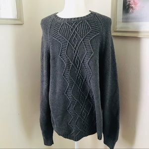 Perry Ellis | Gray Knit Sweater